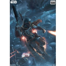 Star Wars: Mythos - The Mercenary Unframed Art Print - Sideshow Collectibles (EU)