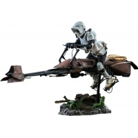 Star Wars: Return of the Jedi - Scout Trooper and Speeder Bike 1:6 Scale Figure Set Hot Toys Product