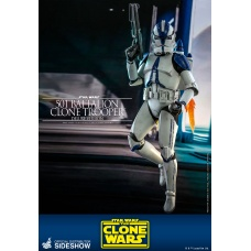 Star Wars: The Clone Wars - Deluxe 501st Battalion Clone Trooper 1:6 Scale Figure | Hot Toys