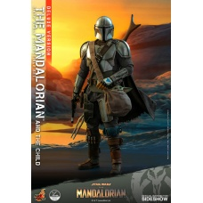 Star Wars: The Mandalorian - Deluxe The Mandalorian and The Child 1:4 Scale Set | Hot Toys