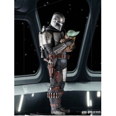 Star Wars: The Mandalorian - The Mandalorian and Grogu 1:10 Scale Statue   Iron Studios