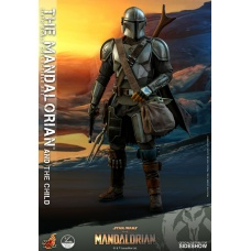Star Wars: The Mandalorian - The Mandalorian and The Child 1:4 Scale Set | Hot Toys