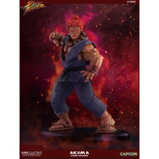 Street Fighter Mixed Media Statue 1/4 Akuma Classic Exclusive Pop Culture Shock Product Image