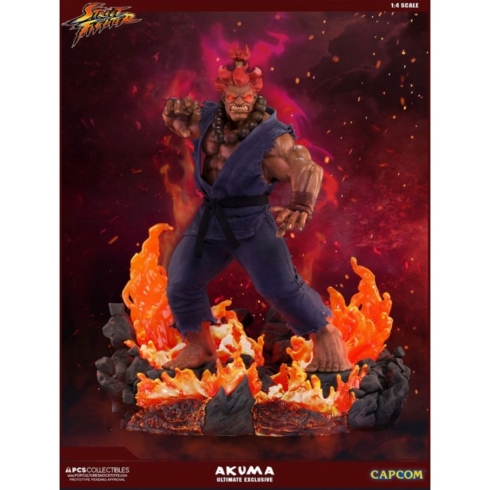 Street Fighter Mixed Media Statue 1/4 Akuma Ultimate Exclusive Pop Culture Shock Product