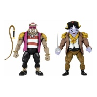Teenage Mutant Ninja Turtles: Turtles in Time Action Figure 2-Pack Pirate Rocksteady & Bebop NECA Product