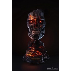 Terminator 2: T-800 Battle Damaged 1:1 Scale Art Mask Statue   Pure Arts