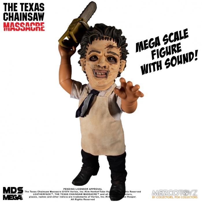 Texas Chainsaw Massacre Mega Scale Action Figure with Sound Feature Leatherface 38 cm Mezco Toyz Product