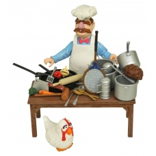 The Muppets Action Figure The Swedish Chef Deluxe Gift Set   Diamond Select Toys