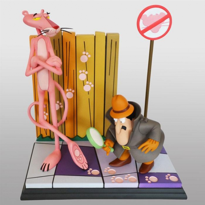 The Pink Panther Statue Pink Panther & The Inspector 41 cm Hollywood Collectibles Group Product