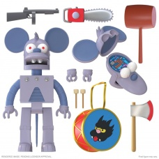 The Simpsons: Ultimates Wave 1 - Robot Itchy 7 inch Action Figure | Super7