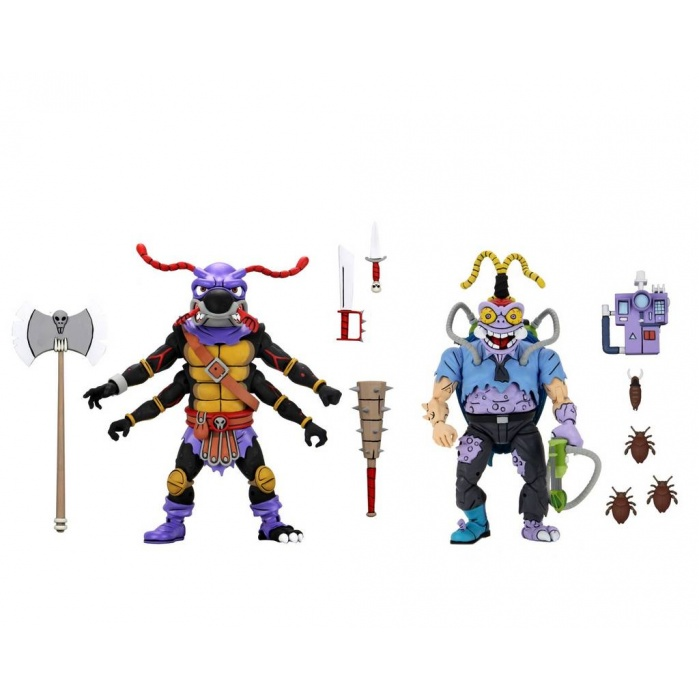 TMNT: Antrax and Scumbug 2-Pack 7 inch Scale Action Figures NECA Product